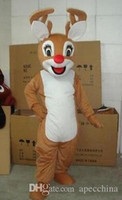 Wholesale Reindeer For Sale - 2017 Factory direct sale as Reindeer Adult Mascot Costume fancy dress for advertising festival EMS free shipping
