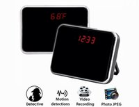 Wholesale Hidden Cameras Mirrors - 8GB HD Spy Camera Digital Mirror Clock Style Hidden Camera DVR with Motion Detection & Remote Control 140 Degree View