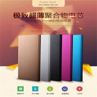 Wholesale External Power Supplies - 20000mah Power Bank Ultrathin Slim Portable external battery Book power supply Charger emergency battery Powerbank For iphone 6 6s New