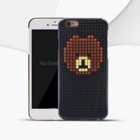 ingrosso bloccare il telefono cellulare-Per iPhone 6 6S Custodia DIY 3D Building Blocks Case per iPhone 6 / 6s Plus Galaxy S7 Edge Building Blocks Custodia per iPhone