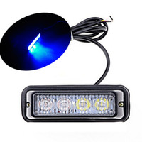 4 LED bleu imperméable à l'eau 4 LED avertissement phare camion de voiture stroboscope Flash Light Bar