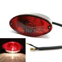 stop lensler toptan satış-Motosiklet Plaka ışık Fren Arka Lamba kırmızı objektif kırmızı ışık