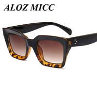 ALOZ MICC Marca Hot Fashion Cool Sunglasses Mujeres Hombres Loves Square Frame Alta calidad Eyewear 2017 Nueva Moda Mujer Sun Glasses UV400 A229