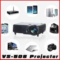 Wholesale Hdmi Lead Usb Port - In stock! VS-508 1080P Full HD LED Projector 2000 Lumens Contrast Ratio 2500 : 1 with HDMI VGA Port Remote Controller ship DHL