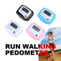 Wholesale New Multi color Pedometer LCD Display Pedometer Step Counter Walking Calorie Pedometer E5M1 order lt no track
