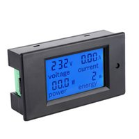 Wholesale Energy Power Voltage - Wholesale-New Arrival Digital LCD AC 80-260V 0-100A 20A 4IN1 voltage current power energy Voltmeter Ammeter Watt Panel Meter
