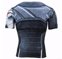 Wholesale America Fitness - Wholesale-Winter Soldier 3D Printed T-shirts Men T Shirt Captain America Civil War Tee Marvel Avengers iron man Fitness Male Crossfit Tops