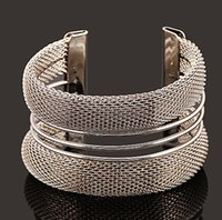Wholesale Wholesale 18k Pure Gold - New ! Hot Fashion Fine Jewelry Bohemian Style Pure Metal wire Pierced 18K Gold Plated Silver Bracelets & Bangles For Women