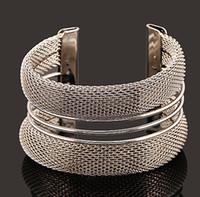 Wholesale Wholesale Wire Style Bracelets - New ! Hot Fashion Fine Jewelry Bohemian Style Pure Metal wire Pierced 18K Gold Plated Silver Bracelets & Bangles For Women