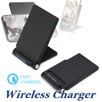 Wholesale chinese fan wholesale - Wireless Charger With Cooling Fan For iPhone X 8Plus 2 Coils Fast Qi Wireless Charging Stand Pad For Galaxy S8 Note8 With Package