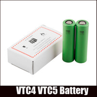 Wholesale Electronic Cigarette Li - Battery VTC5 18650 Battery Clone US18650 Li-on Battery VTC4 fit All Electronic Cigarettes V6 Nemesis Manhattan Mech Mod