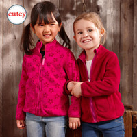 Wholesale Girls Polar Fleece Jacket - Wholesale- New 2016 Spring&Autumn children hoodies Girls double polar fleece jackets and coats kids girls sweatshirt High-Quality