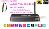 Wholesale Stylus Pen 3d - 2015 HIMEDIA H8 Octa-Core Chips Android TV Box, 2GB RAM 16GB ROM, Home TV Network Player, 3D 4K UHD Set-Top Box +Free Stylus Pen