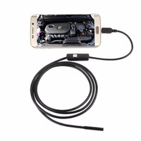 Wholesale Camera Lens For Android - 7mm 1M 2M 3.5M 3FT 6FT 10FT Focus Camera Lens USB Cable Waterproof 6 LED For Android Endoscope Mini USB Endoscope Inspection Camera