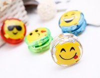 Wholesale Flashing Yoyo - Emoji Smiley Yoyo LED glowing luminous toy Colorful Yo-Yo kids toys