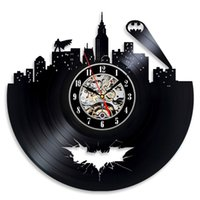 ingrosso migliori arti moderne-Batman Arkham City Logo Best Wall Clock - Decora la tua casa con Modern Large Superhero Art