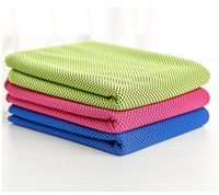 Wholesale Cheap Wholesale Face Towels - 50 pieces Cheap Cool Neck Towel Summer Cold Towel Sports Yoga Running Towel 30*100 cm Hypothermia PVA Cycling Sports Towel