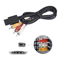 Wholesale New Gamecube Games - 160cm AV TV RCA Video Cord Cable For Game cube for SNES GameCube for Nintendo for N64 64 Wholesale StoreHot New Arrival