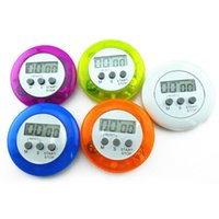 Wholesale Magnetic Timers - 1Pcs Round Magnetic LCD Digital Kitchen Timer Countdown Alarm With Stand minuterie cuisine Cooking tools Kitchen Tools