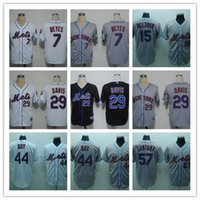 Wholesale Orange Bay - Mets Stitched #7 REYES 15 Beltran 29 Davis 44 Bay 57 SANTANA MLB Jersey Mix Order