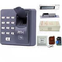 Wholesale Digital Fingerprint Lock - Digital Electric RFID Reader Finger Scanner ZKT X6 Code System Biometric Fingerprint Access Control for Door Lock Home Security System
