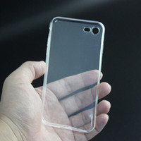 ingrosso custodia in gomma per il iphone 5c-Casi in silicone trasparente TPU trasparente in gomma morbida Custodia in silicone per 4.7