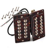 Wholesale Double Neck Sg - Red tortoise shell Neck&Bridge Humbucker Double Coil Pickup Set for LP SG Guitar
