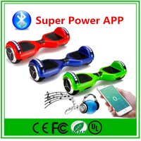 Wholesale Electric Led Lighting - 2016 New APP LED Scooter Bluetooth Speaker Hoverboard Electric Scooter with LED Light Smart Balance Self Balancing Skateboard