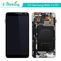 digitalizador de pantalla de pc al por mayor-Pantalla de 10 PCS para Samsung Galaxy Note3 LCD Asamblea de digitalizador de pantalla táctil con marco + envío DHL gratuito