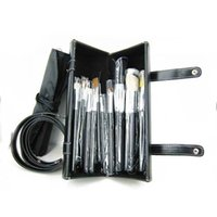 New Professional 16 Pieces Brush Sets + 16pcs Pouch en cuir en 1 DHL Livraison gratuite