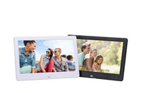 Wholesale Digital Picture Albums - 10 inches HD Wide Screen Digital Picture Frame Photo Album High Resolution MP3 MP4 Movie Player Alarm Clock with Remote Control