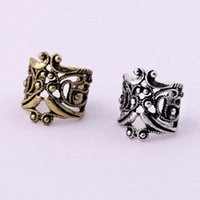 Wholesale Small Earrings For Cartilage - Jewelry Wholesale New Vintage Antique Ear Cuff Punk Small Flower Hollow Charm Clip On Earrings Earcuff For Women Cartilage EH30