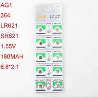 Wholesale Button Cell Lr621 - AG1 LR621 364 6.8*2.1mm watch Fitting Small electronic Wholesale ce Electronic Alkaline battery button cell battery 10 piece