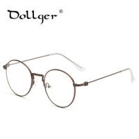 Wholesale grade spectacle frame - Wholesale- Dollger Women Round Eyeglasses Glasses Frames High Grade Light Weight Spectacles Plain Glasses Vintage Retro Design s1207