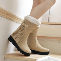 Wholesale Cheapest Waterproof Boots - Cheapest Plus Size Winter Heavy Fleece Waterproof Snow Boots Khaki