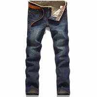 célèbre marque hommes jeans achat en gros de-Men's Brand Pantalon de marque Jeans Designer Jeans Hommes Denim Pantalon de haute qualité (sans ceinture)