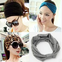 Wholesale Korean Headbands For Women - Wholesale-2016 New Korean Wide Soft Elastic Headbands Sports Yoga For Women Adult Girls Lady Head Wraps Hair Band Turban Accessories Tiara