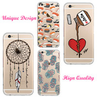 couverture iphone 5s dream catcher achat en gros de-Bouteille en gros de chocolat Nutella Dream Catcher Design Housse Etui cristal tendre transparent pour iPhone 5S 6 6S 6Plus Coque Fundas