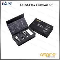 innovative stile großhandel-100% Original Aspire Quad-Flex Survival Kit Innovativer 4-in-1-Tank Nautilus X Tank, RTA, RDA und Squonk Style RDA-Atomzier
