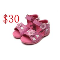 Wholesale E Solids - Fashion Kids sandals Baby Summer First Walk Shoes Kid Shoes good quality kids casual Sandals Shoes
