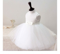 Wholesale Baby Party Dress Free Ems - Lace Sequin Tutu Lovely Baby Girl Birthday Party Christmas Princess Dresses Children Girl Party Dresses Flower Girl Dresses EMS DHL Free