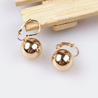 New Style Party Gift 18k Gold Plated Shining Gold Seashell Pearl Drop Earrings Jóias para mulheres Frete Grátis Atacado