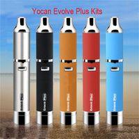 Wholesale Glass Vaporizer Head - Yocan Evolve Plus Wax Starter Kits 1100mah Battery QDC wax coil head vaporizer pen kits e cigarette evolve plus atomizer