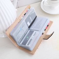 Wholesale Cards Two Folds - 2017 women Card wallet two-folded buckle long design Holders lady's card bag wallet female Credit Card Holder