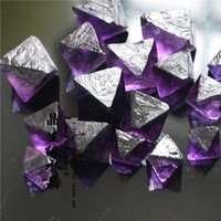 Wholesale Black Glossy Bags - 1 4pound Gem Purple Octahedral Fluorite Crystal From Mexico