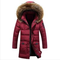 Wholesale Fall Winter Jacket Men White Duck Down Long Jackets Keep Warm Coat Casual Men s thick Down Overcoat Outdoor parka homme