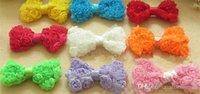 Wholesale Chiffon Headbands Free Ems - Free shipping by EMS, Mini chiffon rose hair bows for baby headband, baby hair accessories zw135