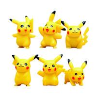 figura de pokeball venda por atacado-6 pçs / set Pokeball Pikachu Figuras Brinquedos Para Kid New Jogos Japoneses Figuras Boneca Set # E