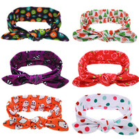 Wholesale Twist Knot Headwrap - Baby Girls Headbands Polka Dot Turban Twist Knot Headbands Kids Elastic Cotton Holiday Hairbands Children Headwrap Hair Accessories KHA123