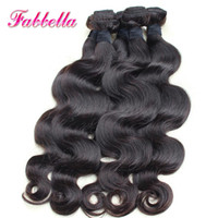 Wholesale Brazil Virgin - 9A Real Human Hair And Beauty Cheap Virgin Hair Products Thick Black Hair Body Weave 3 Pieces a lot Brazilian Hair from Brazil